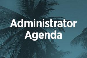 Administrator Agenda Button